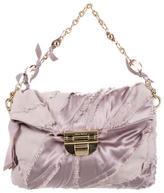 Nina Ricci Raw-Edge Satin & Crepe Bag
