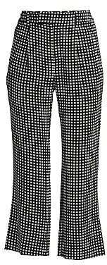 Equipment Women's Bergen Grid Silk Crop Ankle Pants