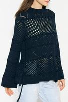 Sugar Lips Navy Crochet Sweater