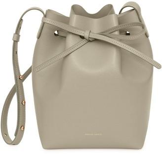 Mansur Gavriel Saffiano Mini Bucket Bag - Elefante