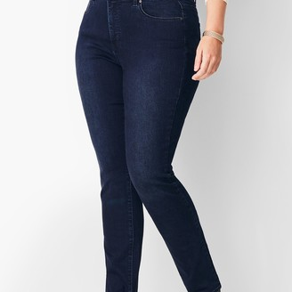 Talbots Plus Size High-Waist Straight Leg Jeans - Marco Wash