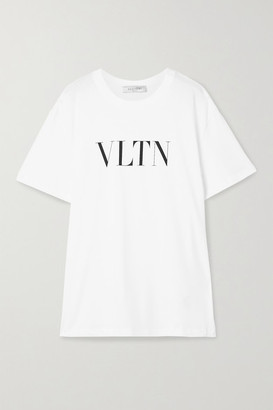 Valentino Oversized Printed Cotton-jersey T-shirt - White