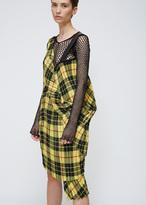 Junya Watanabe Yellow / Black Sleeveless Tartain Check Pleated Dress