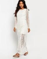 Boohoo Crochet Panel Maxi Dress