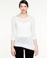 Le Château Metallic Textured Sweater