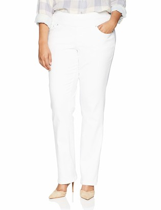 Jag Jeans Women's Plus Size Peri Straight Pull on Jean