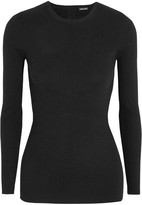 ADAM by Adam Lippes Open-back Ribbed Stretch-cashmere Sweater - Black