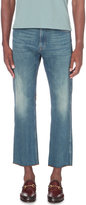 Gucci Tiger-embroidered Regular-fit Cropped Jeans