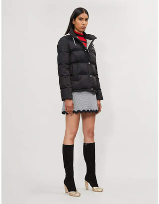 Miu Miu Sequin-embellished shell and down-blend hooded puffer jacket