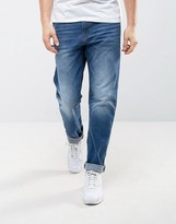 Esprit Straight Fit Jeans In Midwash Blue