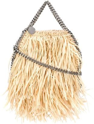 Stella McCartney Falabella straw-fringe shoulder bag