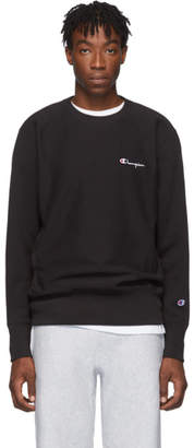 Champion Reverse Weave Black Small Script Sweatshirt
