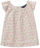 Ralph Lauren Girls' Cotton Poplin Floral Top - Little Kid