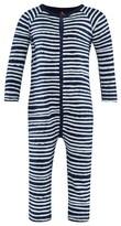 Noë & Zoe Berlin Navy Striped Footless Babygrow