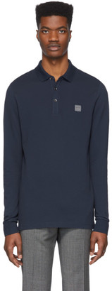 BOSS Navy Passerby Slim-Fit Polo