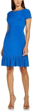 Adrianna Papell Flounce-Hem Bodycon Dress