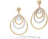 John Hardy Classic Chain Drop Earring in 18K Gold with Diamonds