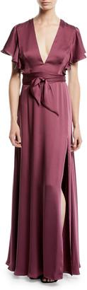 Jill by Jill Stuart Neve Side Twist Satin Dress