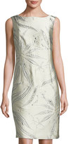 Lafayette 148 New York Faith Jacquard Sheath Dress, Oyster Multi