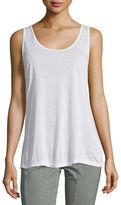 XCVI Thin-Strap Supima® Cotton Tank Top, Plus Size