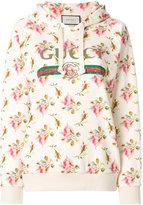 Gucci floral logo hooded sweatshirt