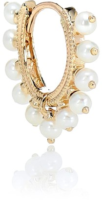 Maria Tash Eternity 14kt gold single earring with pearls