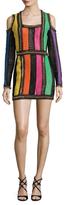 Balmain Crochet Squareneck Dress