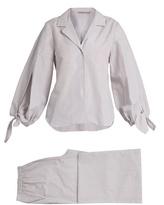 THREE GRACES LONDON Bardeu and Basilio striped poplin pyjama set