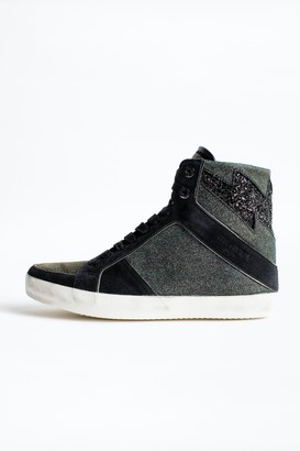 Zadig & Voltaire High Flash Lurex Sneakers