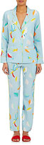 Mira Mikati Women's Bird- & Feather-Print Silk Pajama Set