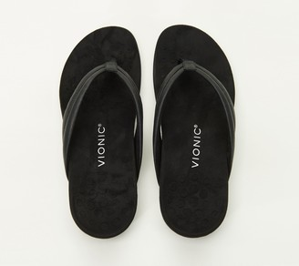 Vionic Metallic or Patent Thong Sandals - Raya