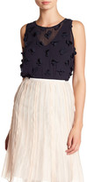 Nic+Zoe Sleeveless Chiffon Applique Blouse
