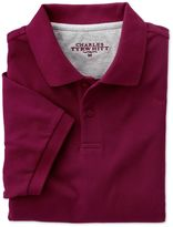 Wine Pique Cotton Polo Size Xl By Charles Tyrwhitt