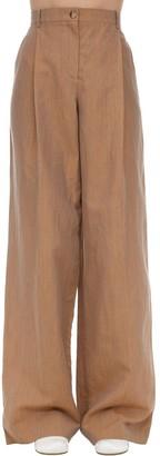 Nina Ricci Linen & Wool Palazzo Pants