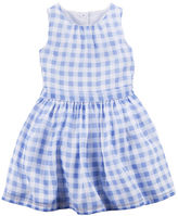 Carter's Gingham Crepe Dress