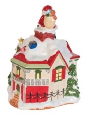 Fitz & Floyd Up On The Roof Top Musical Figurine