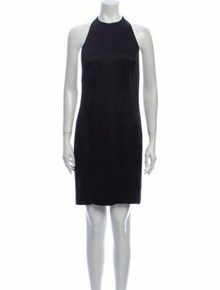 Ralph Lauren Collection Crew Neck Mini Dress Black