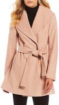 Calvin Klein Wool Shawl Collar Wrap Coat