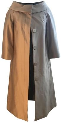 LK Bennett Gold Silk Coat for Women