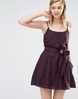 Jack Wills Gingham Print Belted Dress
