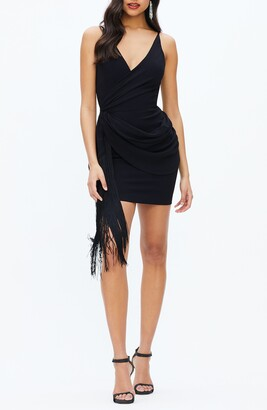 Dress the Population Alida Crepe Fringe Dress