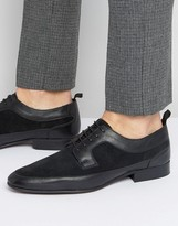 Asos Derby Shoes In Black Leather And Suede