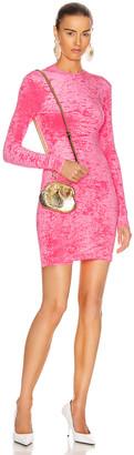 Balenciaga Long Sleeve Cycling Mini Dress in Bubblegum Pink | FWRD
