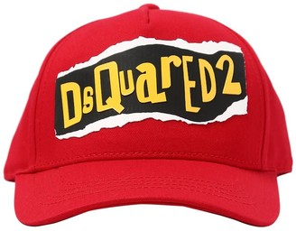 DSQUARED2 Rubber Logo Gabardine Baseball Hat