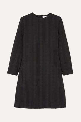 Chloé Embroidered Cotton Mini Dress - Black