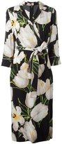 Dolce & Gabbana tulip print wrap dress