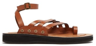 Loewe Paula's Ibiza - Chunky-sole Leather Sandals - Tan