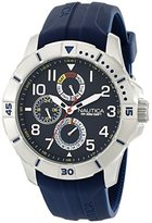 Nautica Men's NAD12505G NSR 300 Stainless Steel Watch with Navy Blue Band