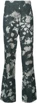 Victor Alfaro Shibori japanese denim side zip jeans