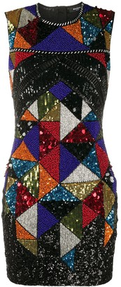 Balmain Sequin Embroidered Beaded Dress